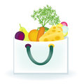 Food bag with different items Royalty Free Stock Photography