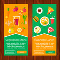 Banners set with citrus fruits