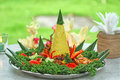 Food and bevarage nasi tumpeng for celebration indonesian cuisine Royalty Free Stock Image