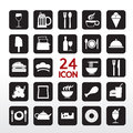 Food and beverage icon set eps Stock Image