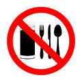 With food and beverages are not permitted prohibitory sign Royalty Free Stock Images