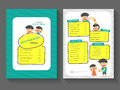 Food breakfast menu layout template a flat design set food with cartoon food menu template vector Stock Image