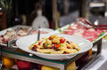 Food buffet vegetarian pasta in Royalty Free Stock Images