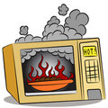 Food Burning In Microwave Oven Stock Image