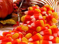 Food: Candy Corn Spill Royalty Free Stock Photo