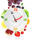 Food Clock With Fruit