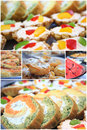 Food collage Stock Images