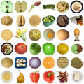 Food collage isolated Stock Photos