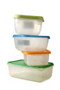 Food containers Royalty Free Stock Images
