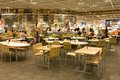Food court big in ikea seattle ikea keeps customers inside the store by serving good Stock Photo