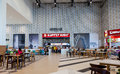 Food court at a shopping center ambar samara russia august the one of largest in samara opened in august Stock Photography