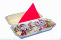 Food delivery in pack of salad with bacon Royalty Free Stock Photo