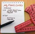 food diary Royalty Free Stock Photo