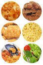 Food dishes collage Royalty Free Stock Photo