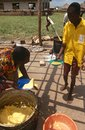 Food distribution, Uganda Stock Photos