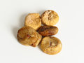 Food dried figs on white background Stock Photography
