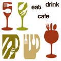 Food and drink concept graphics Stock Photos