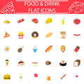 Food and drink flat icon set, Sweets symbols collection, logo illustrations, colorful solid isolated on white background Royalty Free Stock Photo