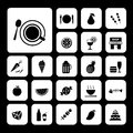 Food and drink icon set vector Stock Photography