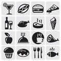 Food Drink icons Royalty Free Stock Photo