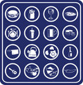Food and drink icons Stock Photos
