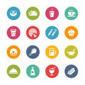 Food and drink icons fresh colors series vector buttons in different layers easy to change Royalty Free Stock Photography