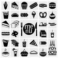 Food and drink icons set Royalty Free Stock Photo