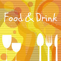 Food and drink poster with symbols suited to catering Stock Photography