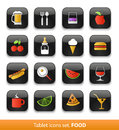 Food drink tablet buttons collection isolated white Royalty Free Stock Image