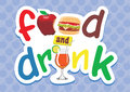Food and drink type unique with three kind of inside all element are separated very easy to edit Stock Photos