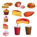 Food and drink, vector set Royalty Free Stock Image