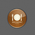 Food and drink wood application icons this is file of eps format Royalty Free Stock Photography