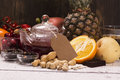Food and drinks rich of natural antioxidants assortment selective focus Stock Photo
