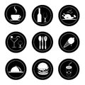 Food and drinks seals sealss over white background vector illustration Stock Photo