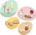 Food and Drinks set Royalty Free Stock Photo