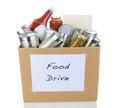 Food Drive Box Royalty Free Stock Photo