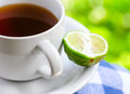Food earl grey tea with bergamot Royalty Free Stock Images