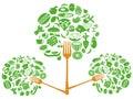 Food fork tree Royalty Free Stock Photo
