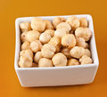 Food fresh shelled hazelnuts background Stock Image