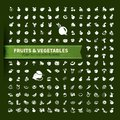 Food fruit and vegetables icon set vector illustration Stock Image