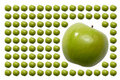 Food, Fruits, Green Apple with Tail Stock Image