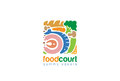 Food Gourmet Square Logo Shop abstract design vector
