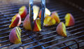 Food grilling Royalty Free Stock Photo