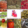 Food and healthy heart Royalty Free Stock Photo