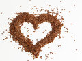 Food heart made with flaxseed on white background Stock Photography