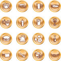 Food Icon Button Series Set Royalty Free Stock Image