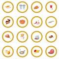 Food icon circle