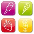 Food icon color set Royalty Free Stock Image