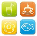 Food icon color set Royalty Free Stock Photography