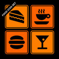 Food icon set Royalty Free Stock Image